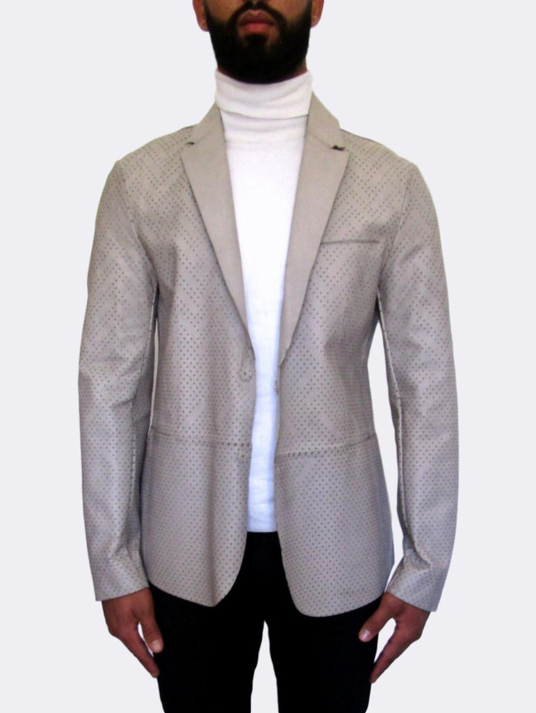 Laser-cut perforated Jacket