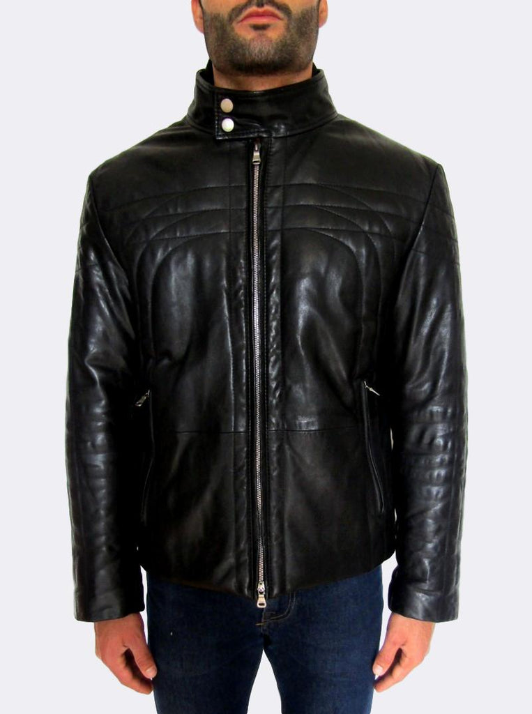 'Foddis' Quilted Leather Jacket
