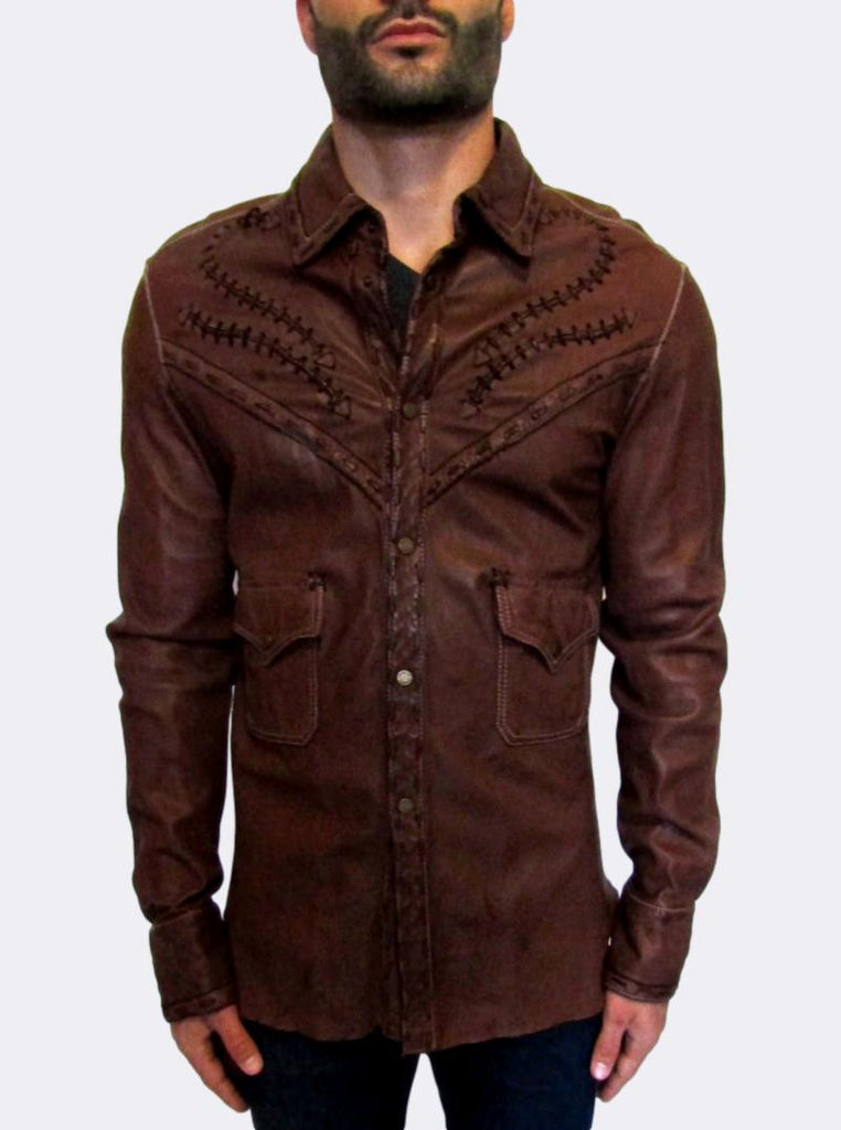 Western Leather Shirt