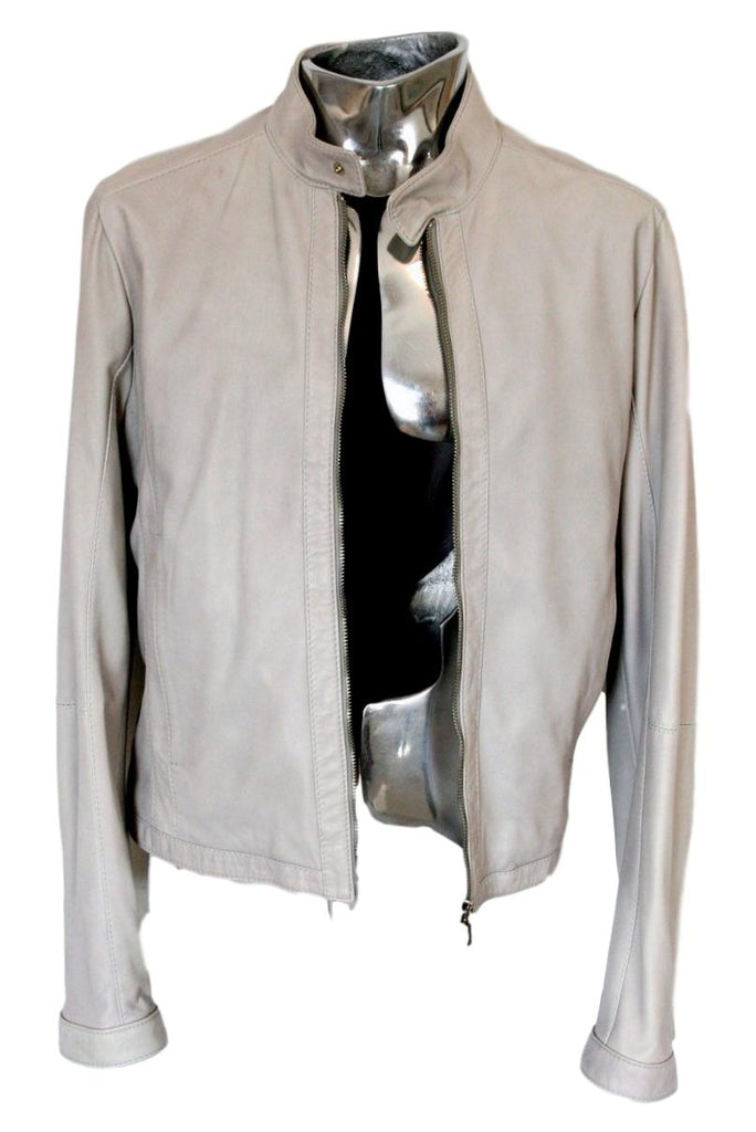 Men's Dirk Bikkembergs Blouson Leather Jacket - atemporali