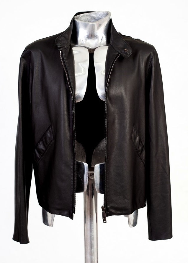 Men's Emporio Armani Lightweight Leather Jacket - atemporali