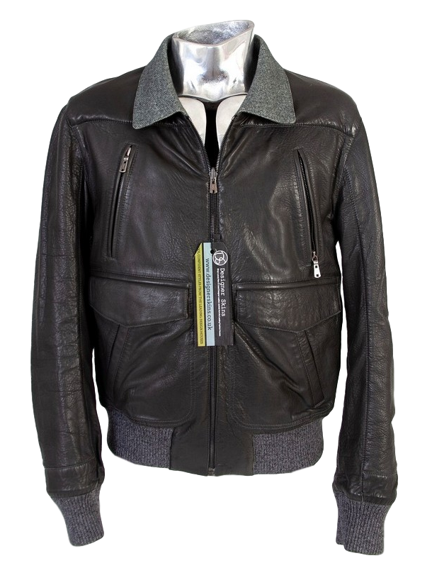 Men's Saint Laurent Reversible Leather Tweed Jacket - atemporali