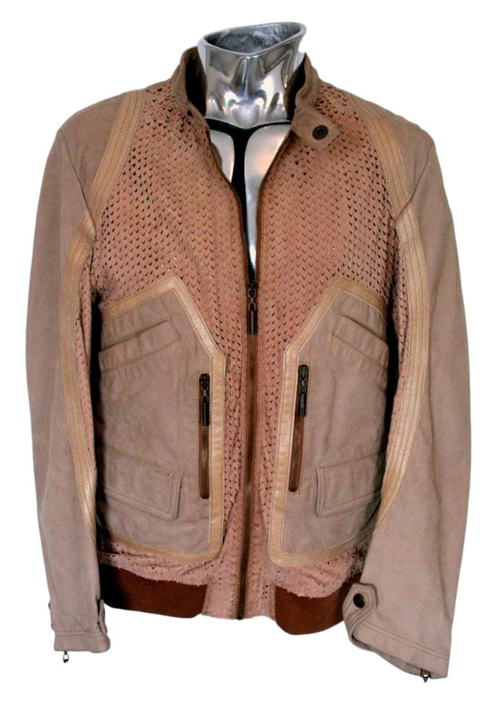 Men's Just Cavalli Suede/Leather Bomber Jacket - atemporali