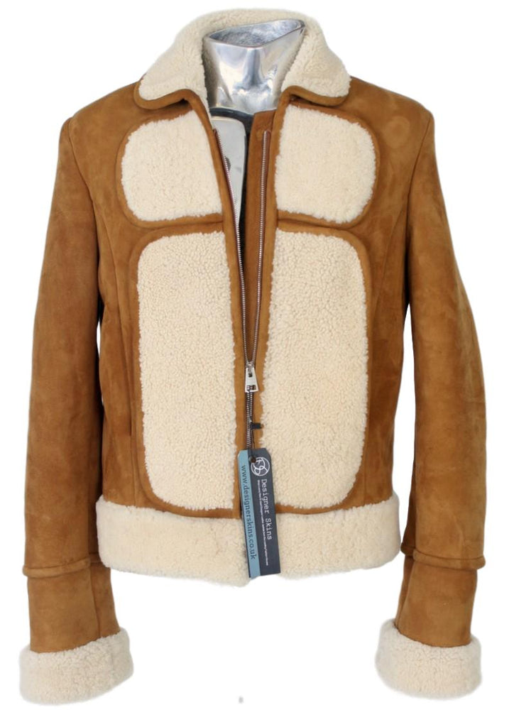 Men's J W Anderson Shearling Lambskin Leather Jacket - atemporali
