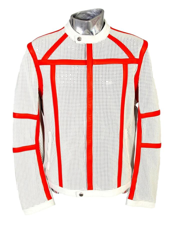 Men's John Richmond Perforated Leather Jacket - atemporali