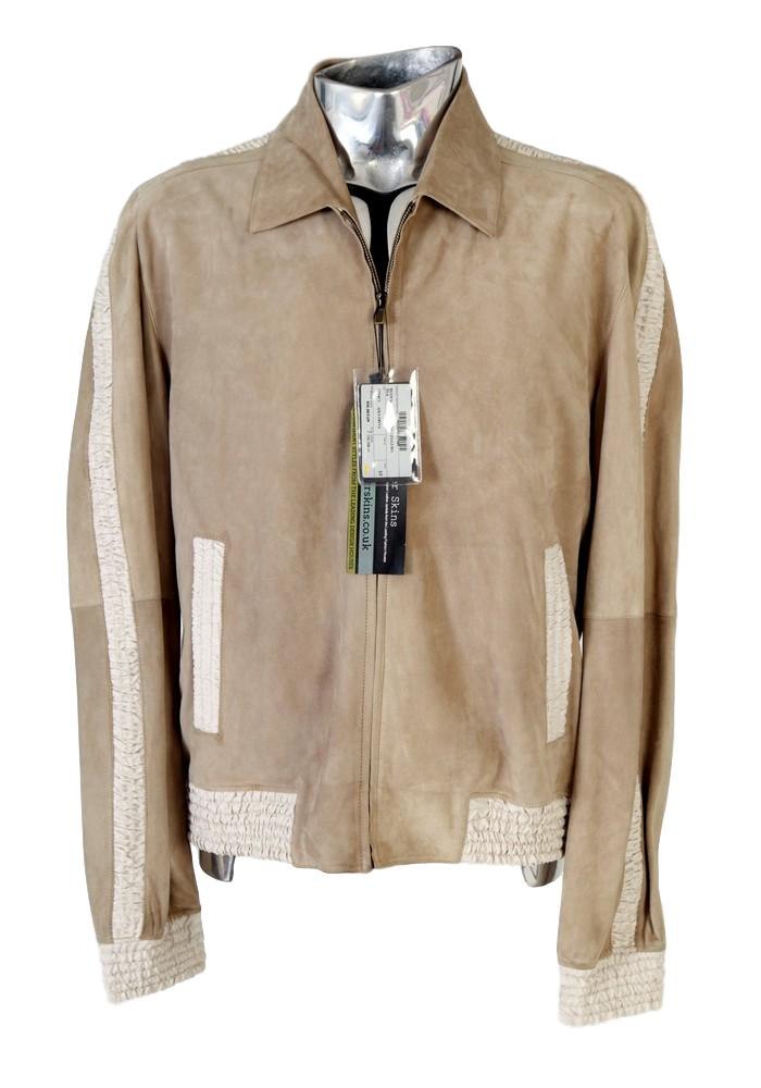 Men's Fendi Leather & Silk Bomber Jacket - atemporali