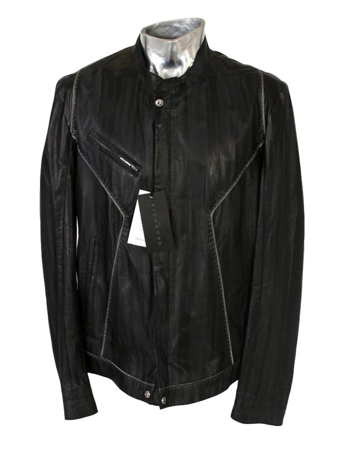 Men's John Richmond Two-tone Leather Jacket - atemporali