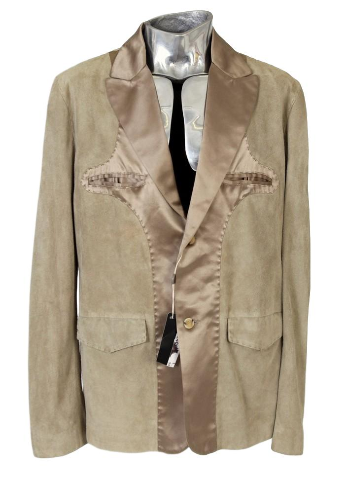 Men's Ermanno Scervino Suede & Silk Jacket - atemporali