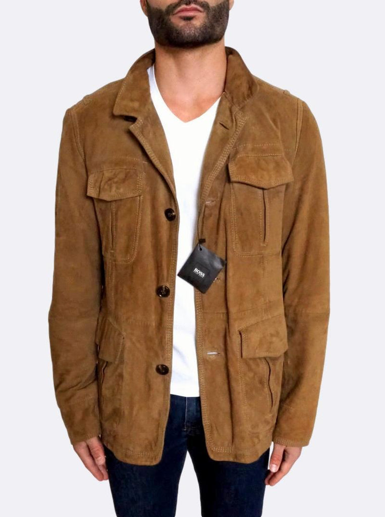 'Niver' Suede Leather Field Jacket