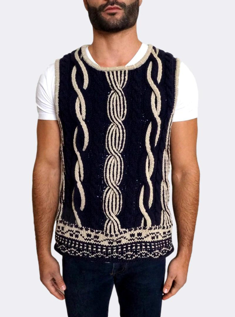 Cotton Knitted Heavy Gilet
