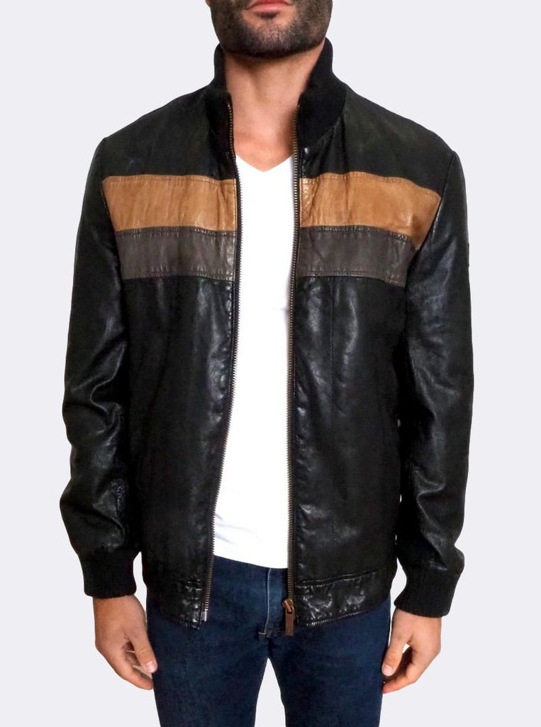 'Jeckel-W' Leather Bomber Jacket
