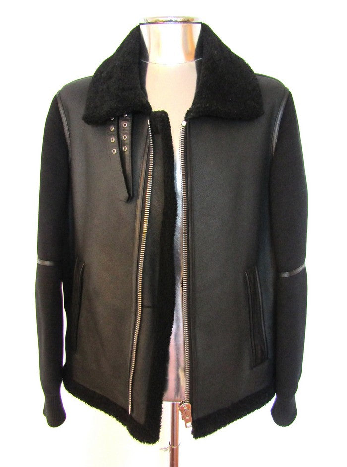 Men's Givenchy Shearling & Neoprene Jacket - atemporali