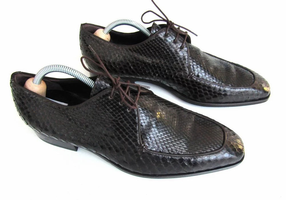 Men's Giorgio Armani Snakeskin Oxford Shoes - atemporali