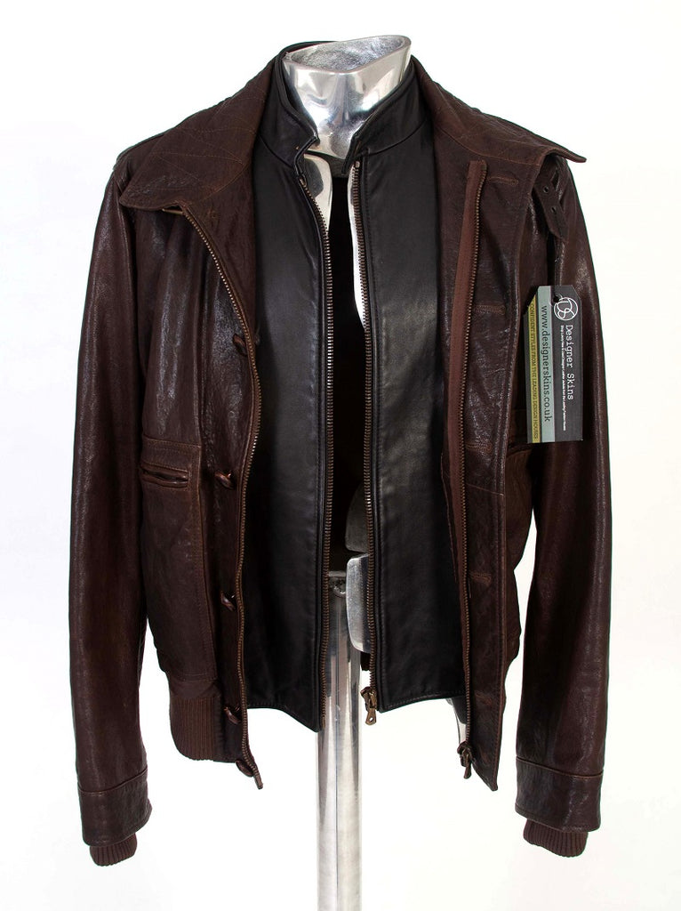 Men's Dolce & Gabbana Double-layer Leather Jacket - atemporali