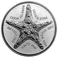 Cook Islands 1 Dollar 2021 Starfish Seestern 2021 1 oz 999 Silber / AG