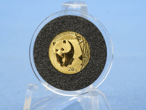 China 20 Yuan 2002 , Panda , *1/20 Unze - 999 Gold*