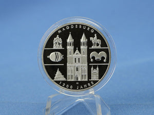 10 Euro BRD 2005 A , 1200 Jahre Magdeburg , 925 Silber *PP/Proof