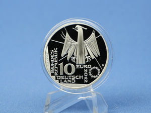 10 Euro BRD 2012 D , Nationalbiliothek , 625 Silber *PP/Proof