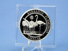 Laden Sie das Bild in den Galerie-Viewer, Barbados 1 Dollars 2016 , Flamingo *F 15 *, 1 Oz Silber 999 , * PP/Proof*