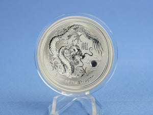 Australien 1 Dollar 2012 Lunar II Year of the Dragon 1 oz 999 Silber*st*
