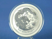 Load image into Gallery viewer, Australien 2 Dollars 2012 ,Lunar II Year of the Dragon , 2 oz 999 Silber*st*