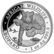 Somalia 100 Shillings 2020 , Leopard - African Wildlife - 1 Oz 999 Silber