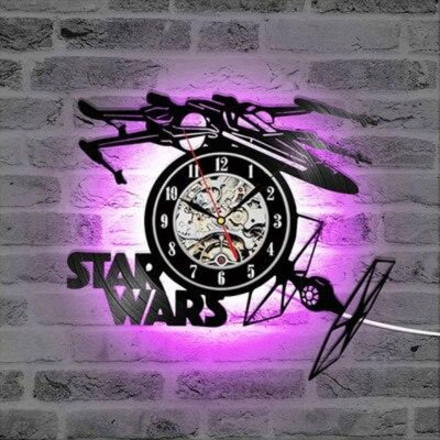HORLOGE STAR WARS<BR> MONTRE MURALE