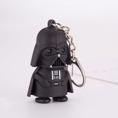 PORTE-CLE STAR WARS<BR> DARK VADOR (LED ROUGE)