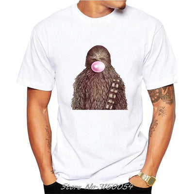 T-SHIRT STAR WARS<BR>CHEWBACCA AVEC CHEWING GUM