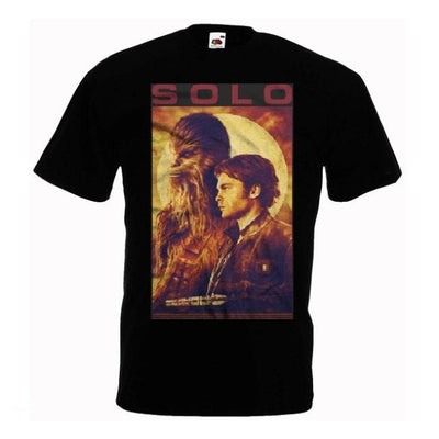 T-SHIRT STAR WARS<BR>CHEWBACCA ET HAN SOLO