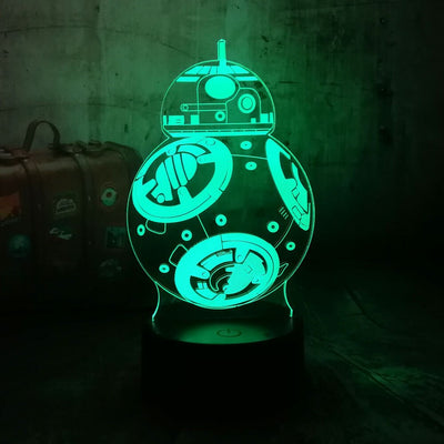 LAMPE STAR WARS<BR>LAMPE DE CHEVET BB8