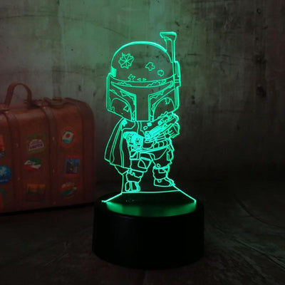 LAMPE STAR WARS<BR>MINI BOBA FETT