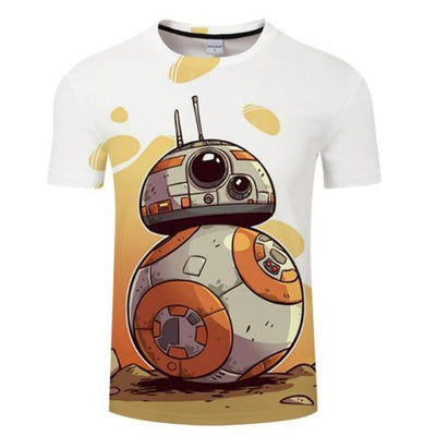 T-SHIRT STAR WARS<BR> DESSIN BB-8