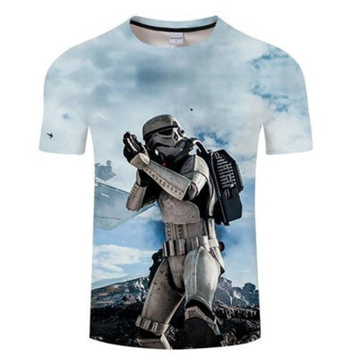 T-SHIRT STAR WARS<BR> STORMTROOPER COULEUR BLEU