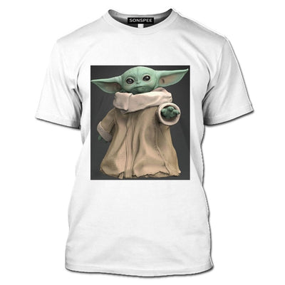 t shirt baby yoda pour homme