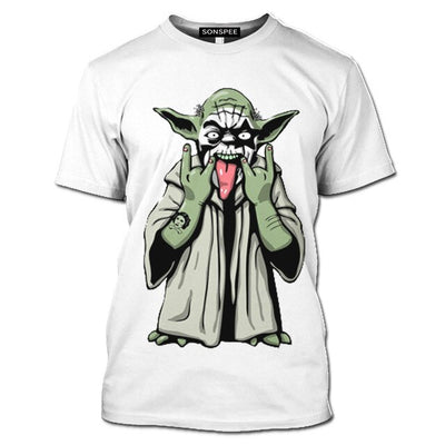 T-SHIRT STAR WARS<BR>YODA ROCKEUR