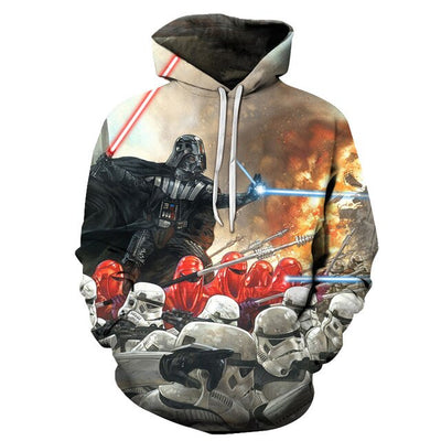 SWEAT STAR WARS<BR>DARK VADOR ET STORMTROOPERS