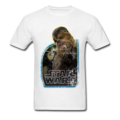 T-SHIRT STAR WARS<BR>BLANC CHEWBACCA