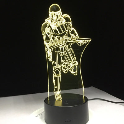 LAMPE STAR WARS<BR>STORMTROOPER QUI COURT