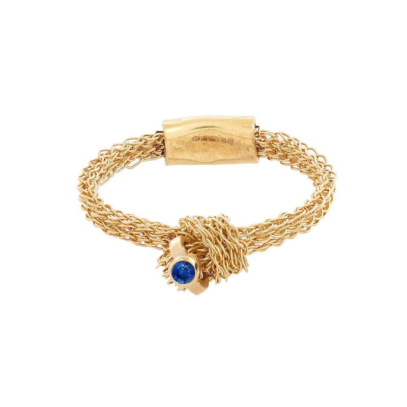 MEMORY KNOT Ring with Blue Sapphire Highlight