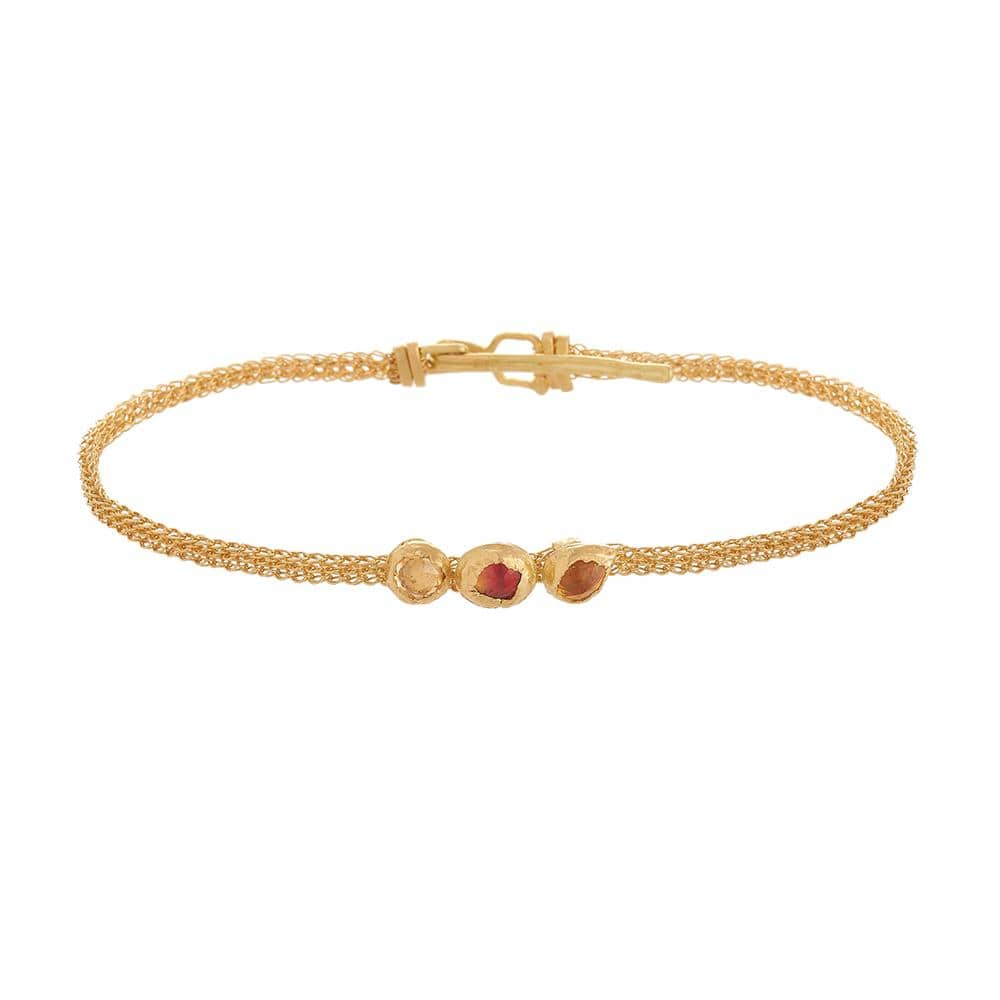 AINA Three Stone Bracelet