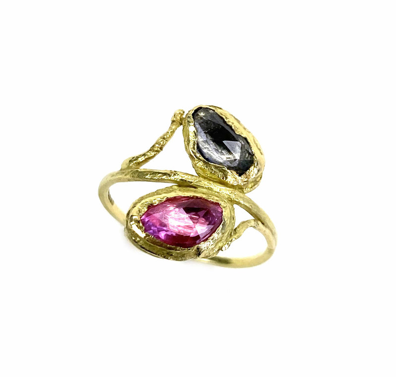 PERHO Double Sapphire Ring