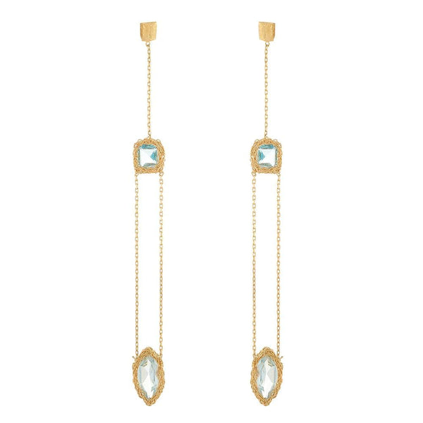 DECIMA Long Drop Earrings