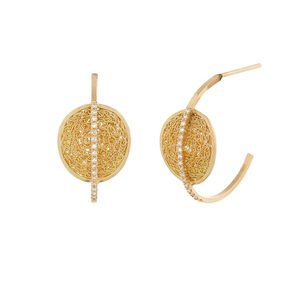 Lumo Disc Earring Hoops