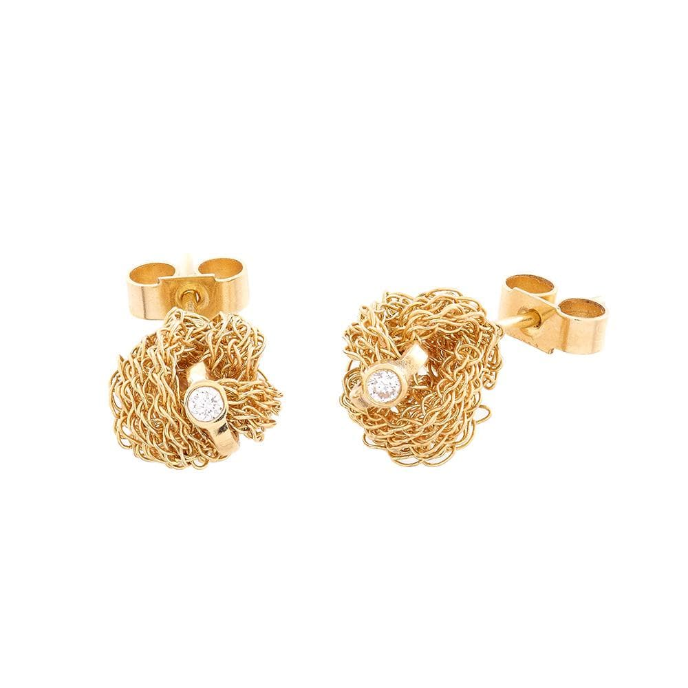 MEMORY KNOT Stud Earrings