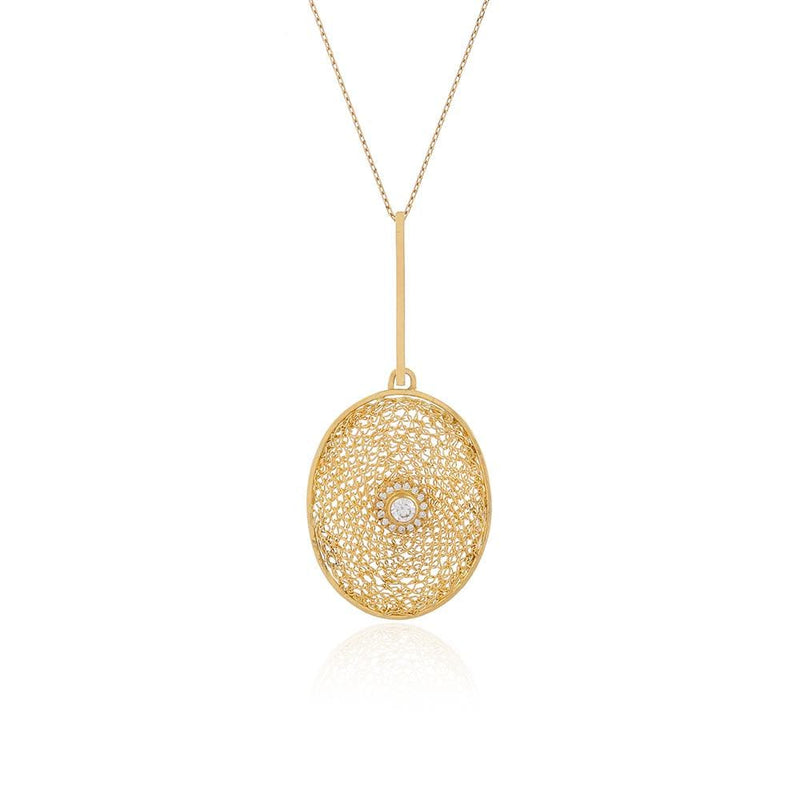 LUMO Oval Diamond Necklace