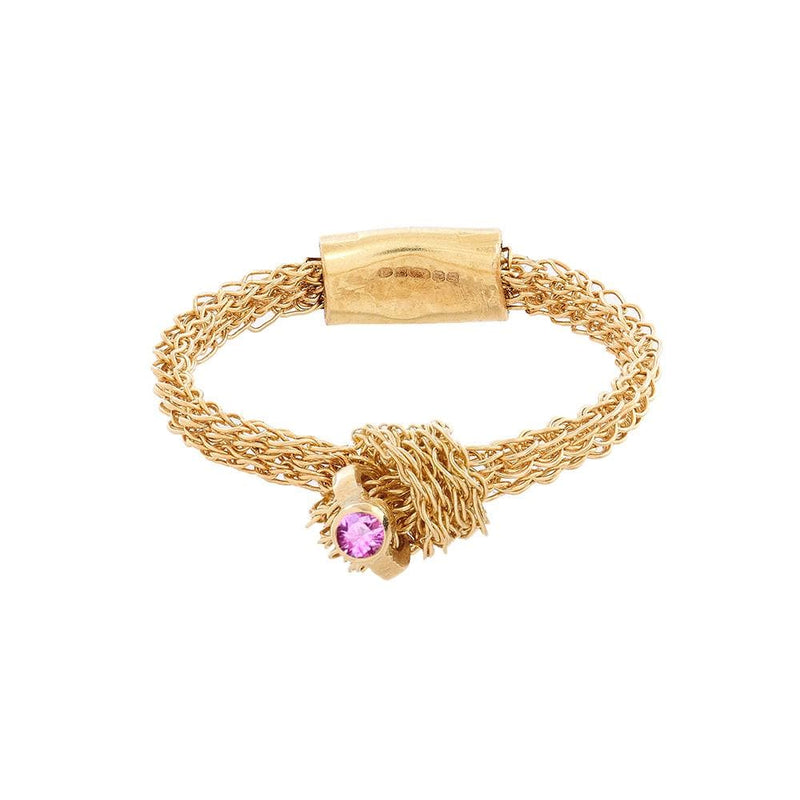 MEMORY KNOT Ring with Pink Sapphire Highlight