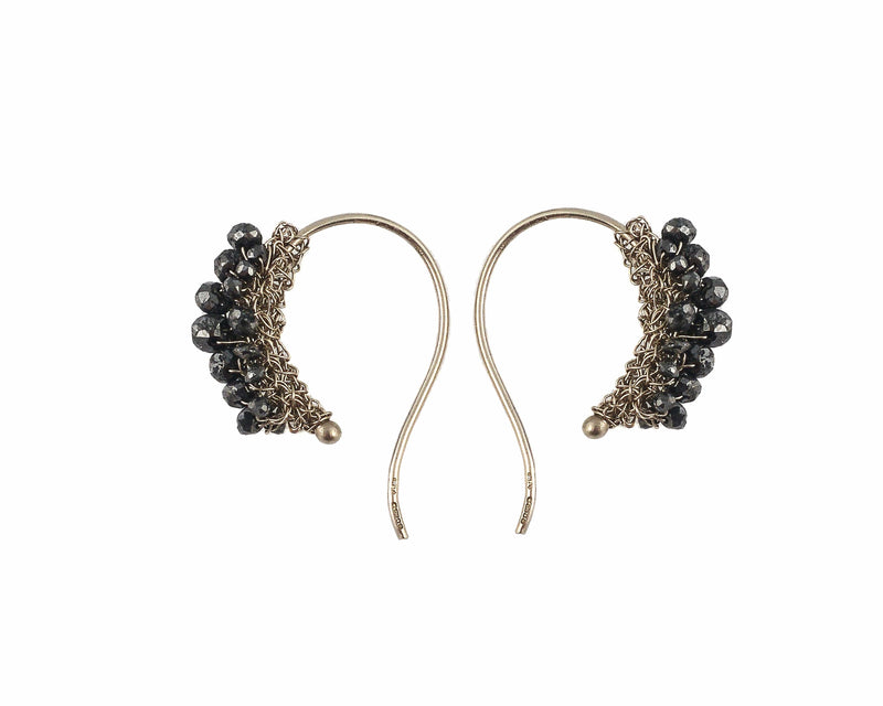 GYPSY Hoop Black Diamond Earrings