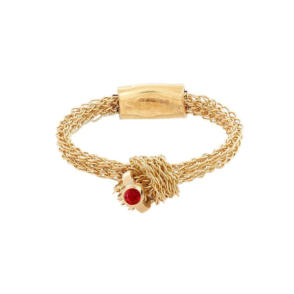 MEMORY KNOT Ring with Ruby Highlight