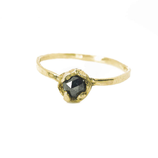 Organic Black Diamond Ring